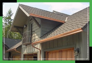 New Gutter Installation in Portland, OR and Vancouver, WA | House with New Copper Gutters